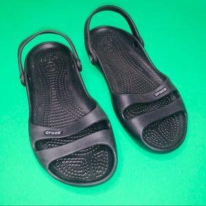 CROCS Women's black sandals shoes size 7